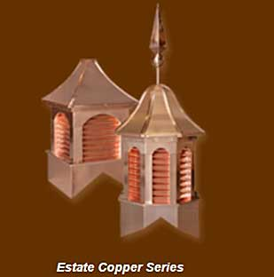 Estate Copper Series Cupolas for sale online in USA offered in Bucks County PA, Montgomery County PA, New Hope PA