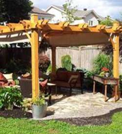 Pergolas for your backyard offered in Bucks County PA, Montgomery County PA, New Hope PA